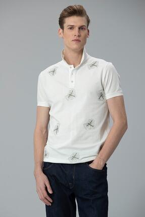 Lufian Alpaca Spor Polo T- Shirt Kırık Beyaz