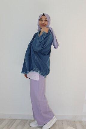 Loreen Kadın Koyu Mavi Spor Tasarım Jean Ceket