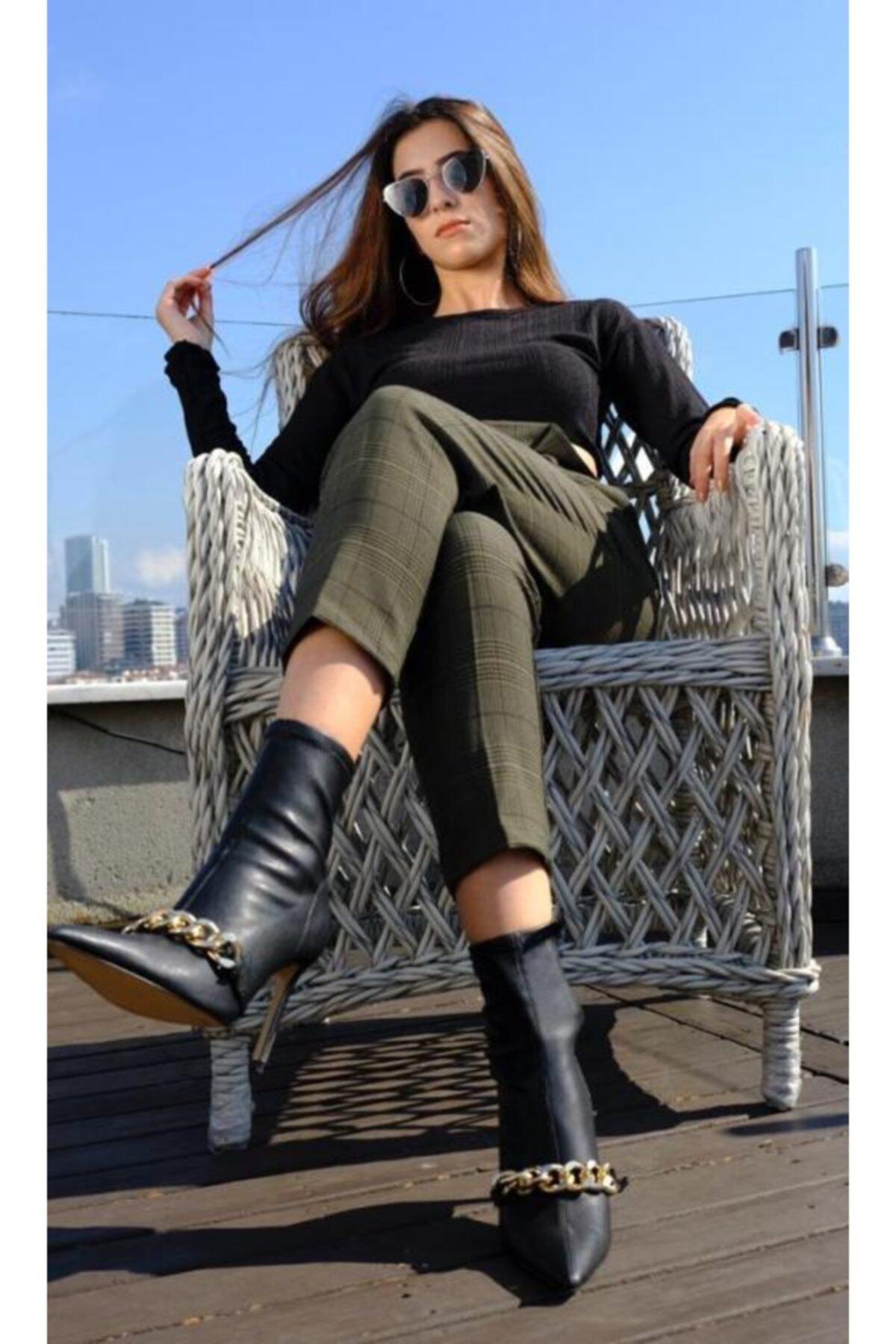 BSL Kadın Yeşil Havuç Pantolon 2