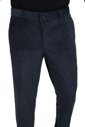 Canelia Petrol Renk Kadife Yan Cep Klasik Kesim Erkek Pantolon