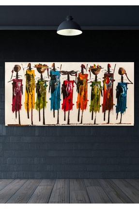 Hediyeler Kapında Totemler Duvar Kanvas Tablo 60x100  cm