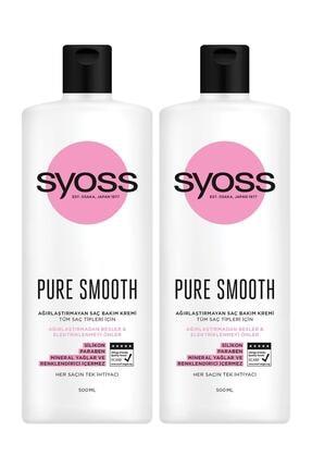 Syoss Pure Smooth Micellar Ağırlaştırmayan Saç Kremi 500Ml 2'li