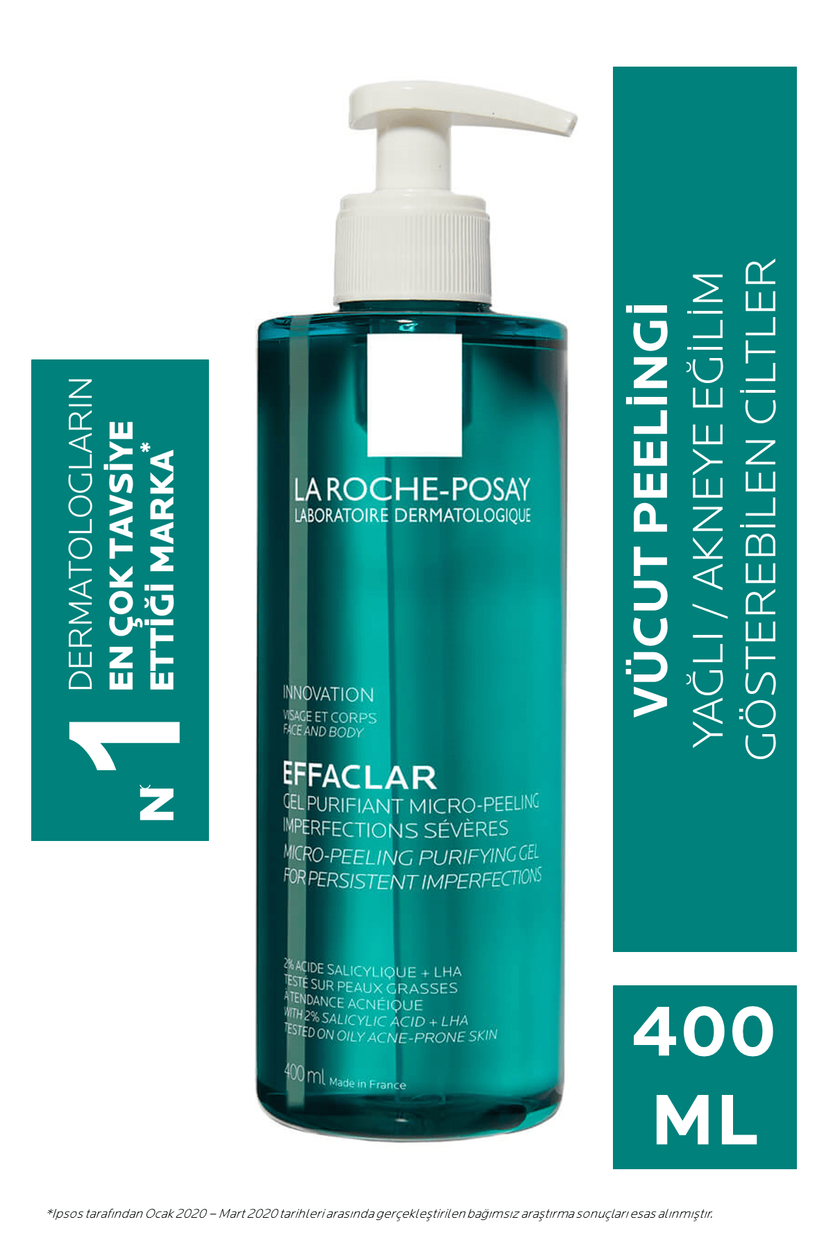 La Roche Posay Effaclar Mikro-peeling Arındırıcı Jel 400 ml 3337875708289