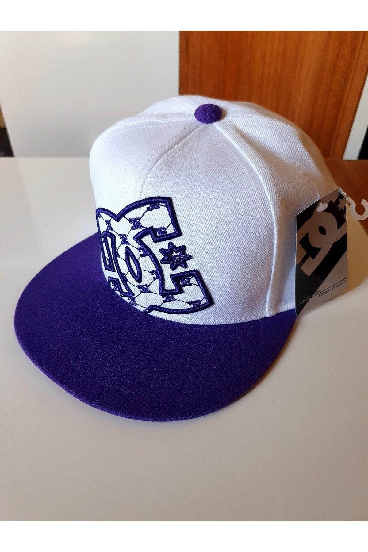 DC Unisex Beyaz Desen Hip Hop Şapka 1