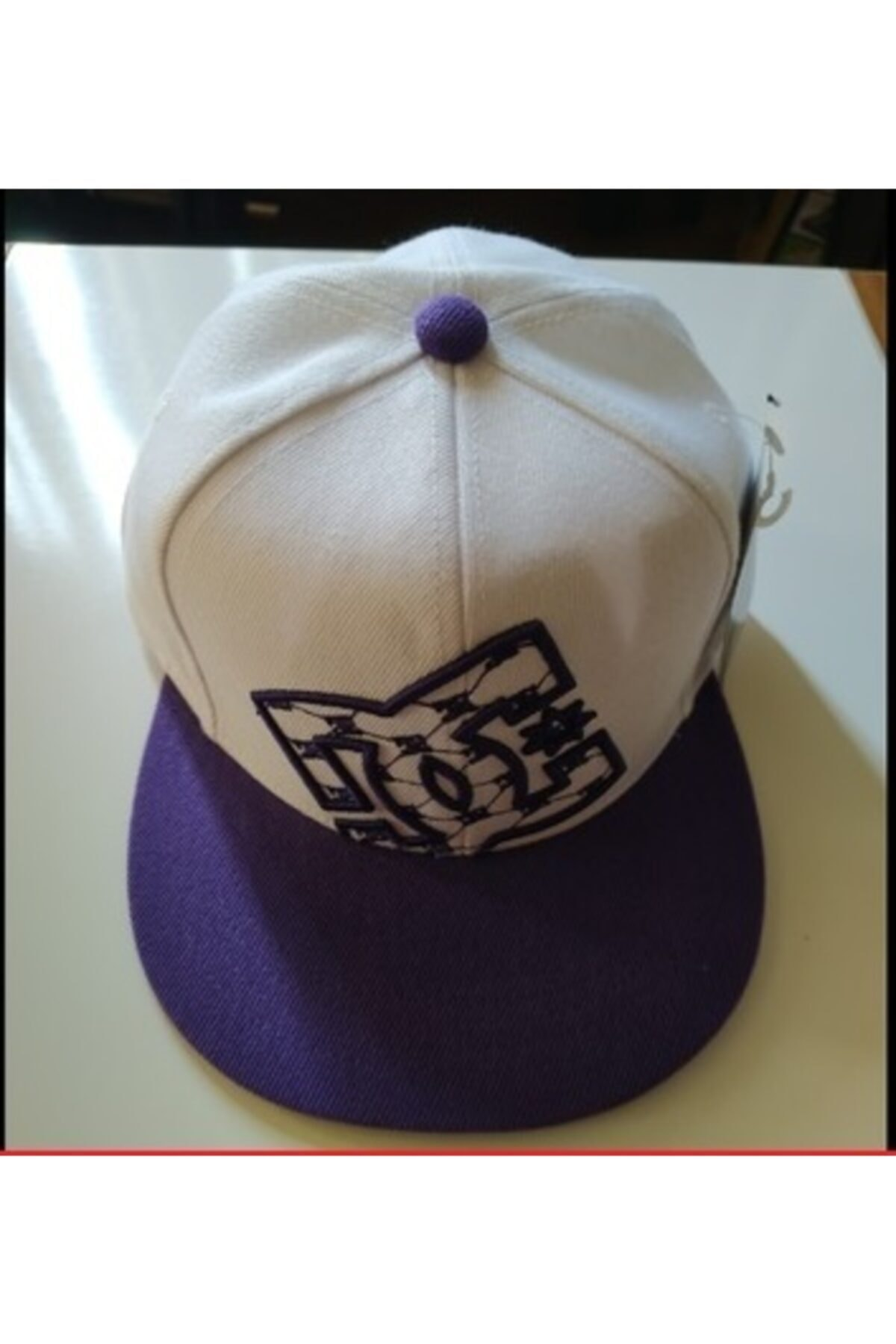 DC Unisex Beyaz Desen Hip Hop Şapka 2