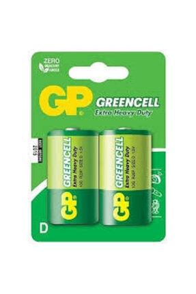GP Greencel R20 Kalın D Boy Çinko Pil 2'li Paket 13-2ue2