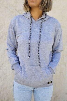 Chekich Kadın Gri Kapüşonlu Sweatshirt