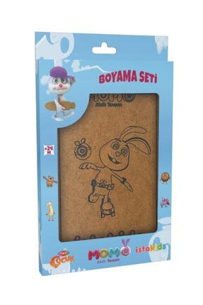istakids Trt Çocuk Akıllı Tavşan Momo Lisanslı Ahşap Boyama Seti Model 2