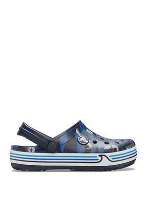 Crocs Kids Çocuk Lacivert Spor Sandalet Crocband Shark Clog Ps