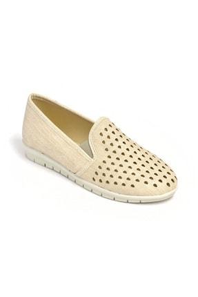 David Jones Kadın Bej Lazer Kesim Ayakkabı