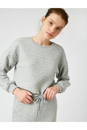 Koton Kadın Gri Melanj Pijama Üstü