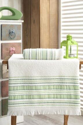 Louis Marie Banyo Havlu Takımı 70x140 - 50x90 Vip Fıstık Yeşil