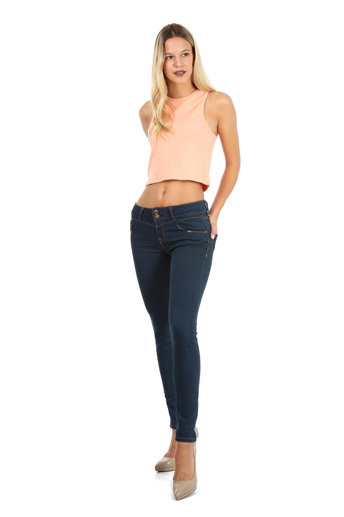 Regional Jeans Kadın Mavi Jean Pantolon 1