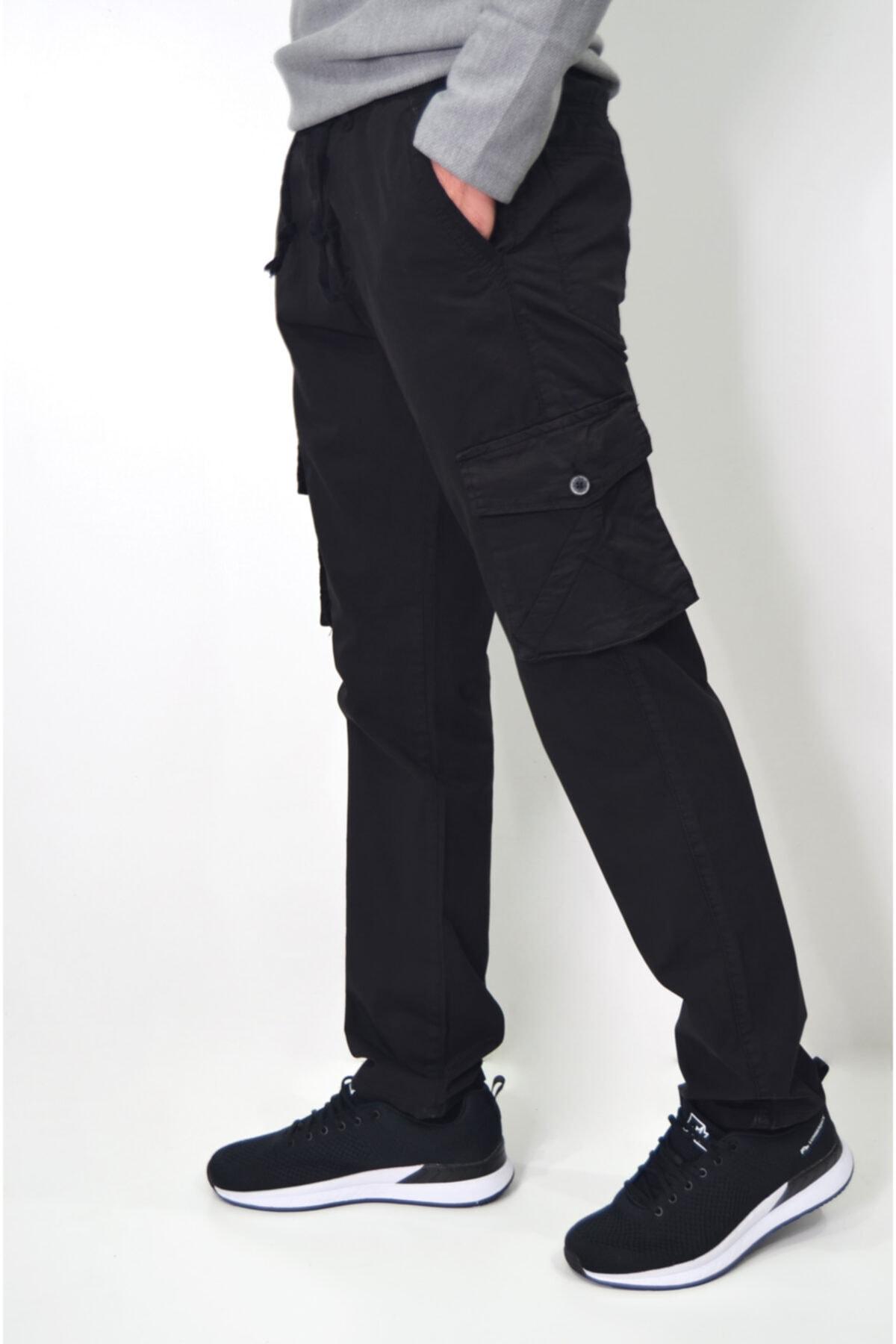 ds danlıspor Erkek Beli Lastikli Likralı Kargo Cep Pantolon 20109 2