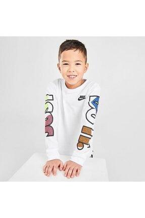 Nike Çocuk Beyaz Jorden Jdı Fly Ls Tee Uzun Kollu Tişört