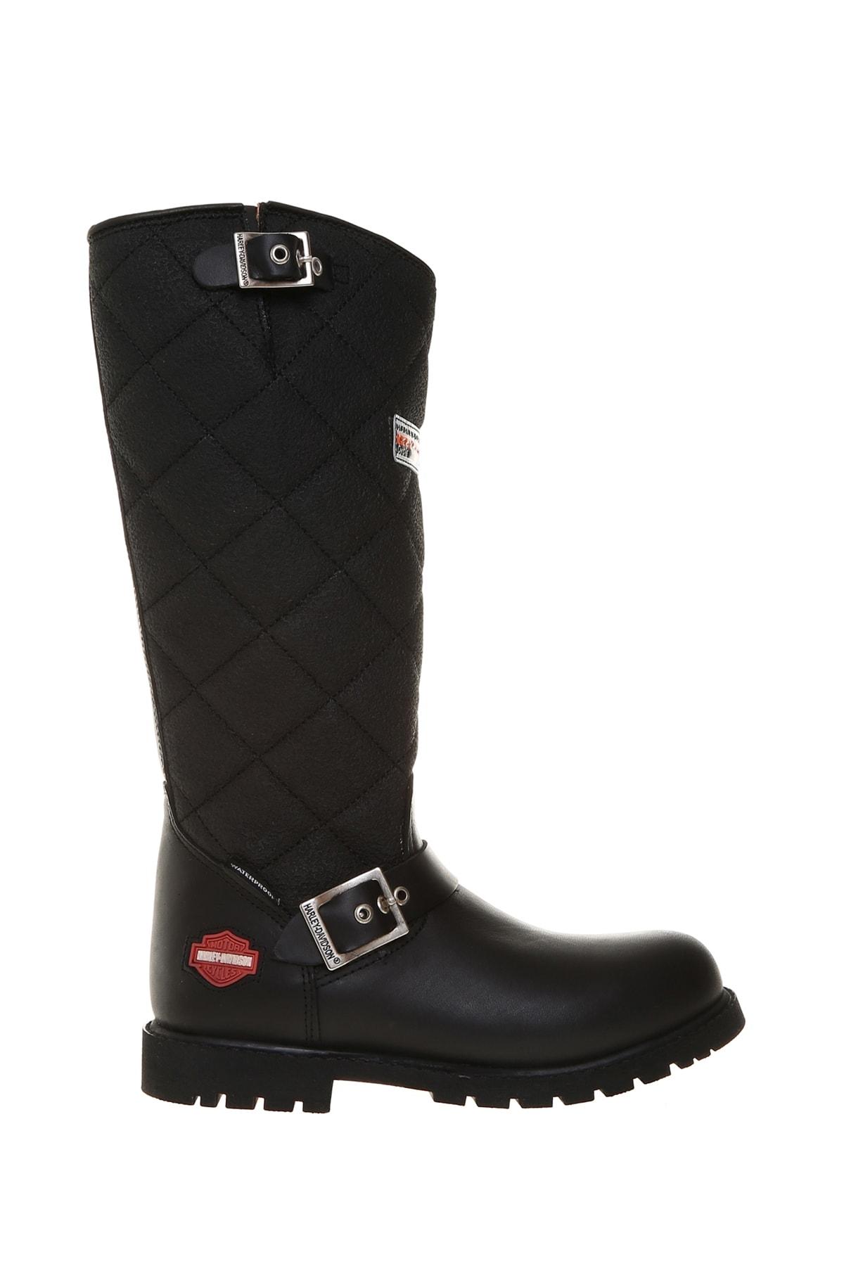 Harley Davidson Siyah Kadın Çizme 503050696 1