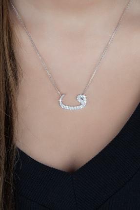 Afrodit Silver Kadın Gümüş Vav Tasarım Kolye