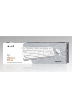 A4 Tech F1010 Q Usb Beyaz Fn-mm Klv+optik Mouse Set