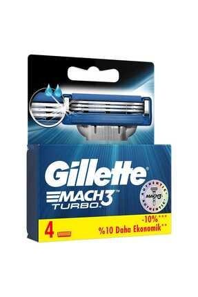 Gillette Mach3 Turbo Yedek Başlık 4'lü