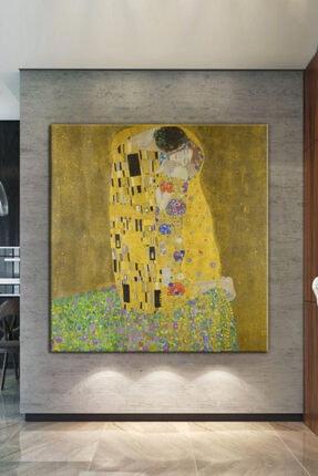Nazenin Design Gustav Klımt The Kiss Öpücük Dev Boyut Kanvas Tablo 70x70cm