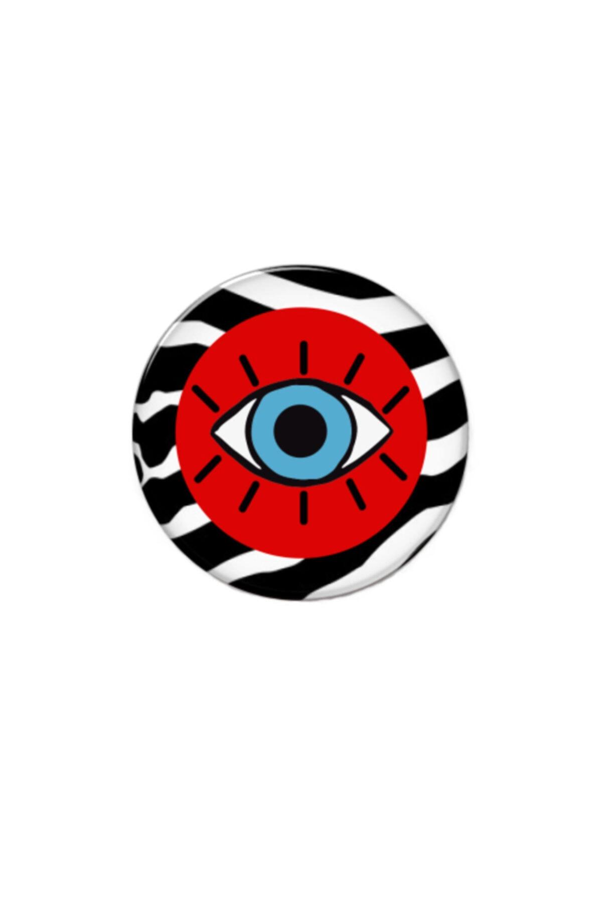 hey lori - Kırmızı Zebra Desen Göz Popsocket 2