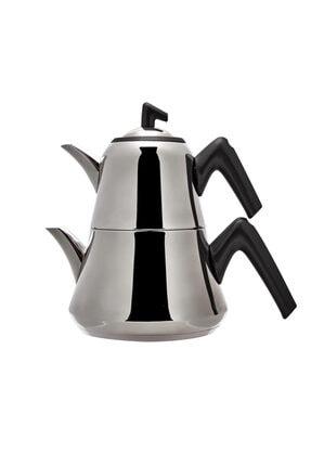 Emsan Harika Indüksiyon Tabanlı Çaydanlık Takımı Soft Siyah