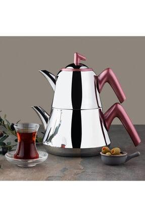 Emsan Harika Indüksiyon Tabanlı Çaydanlık Takımı Kırmızı