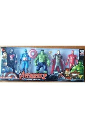 matchbang Oyuncak Yenilmezler Süper Kahramanlar Oyuncak Seti 5li Hulk Demir Adam Thor