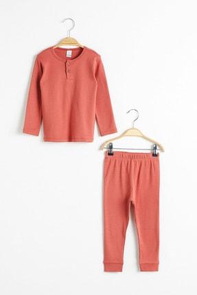 LC Waikiki Erkek Bebek Kiremit Rcj Pijama Takımı