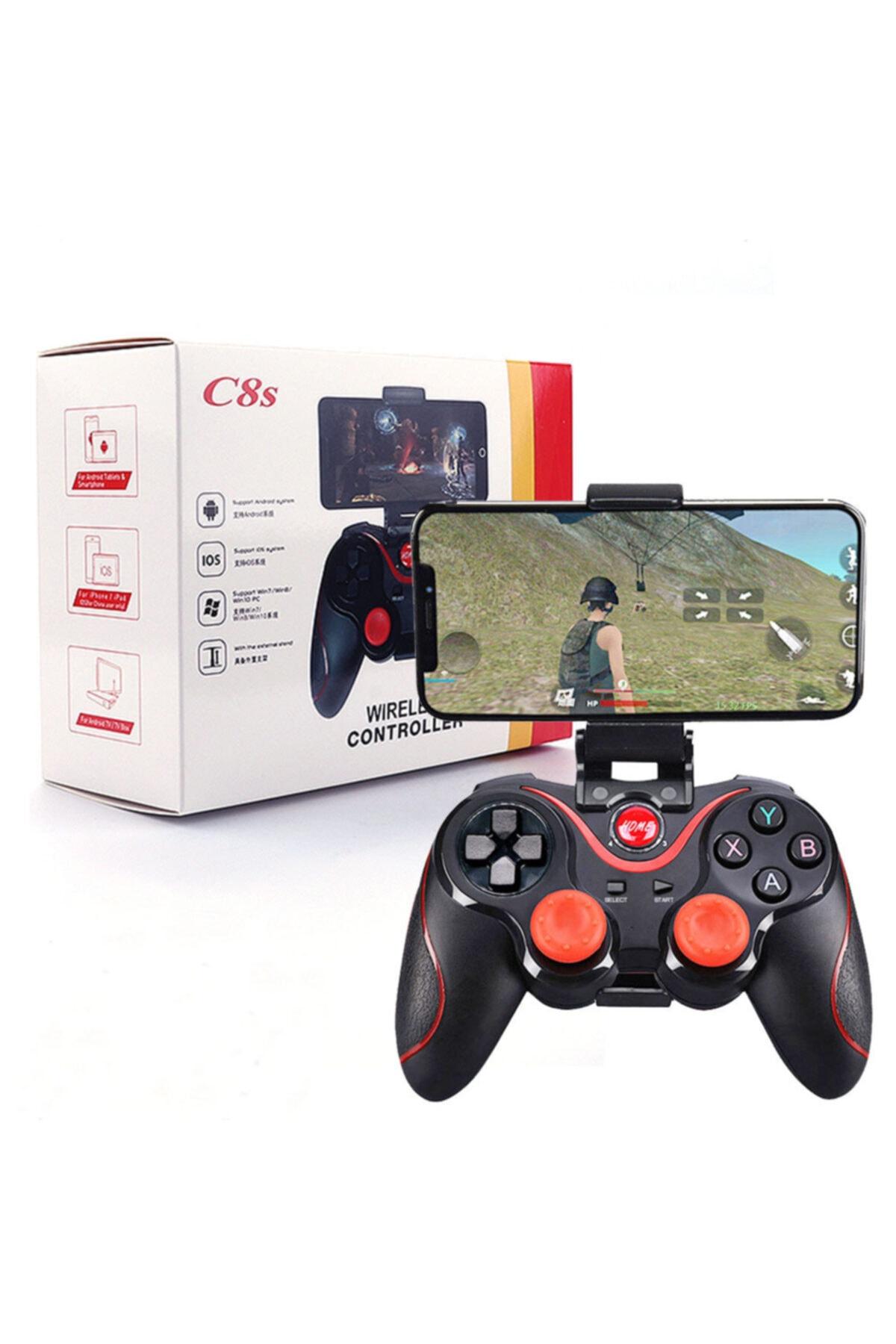 PUBG C8s Wireless Kablosuz Oyun Kolu Bluetooth Joystick Gamepad 1