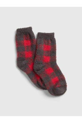 GAP Kids Erkek Çocuk Erkek Kırmızı Yumuşak Dokulu Çorap