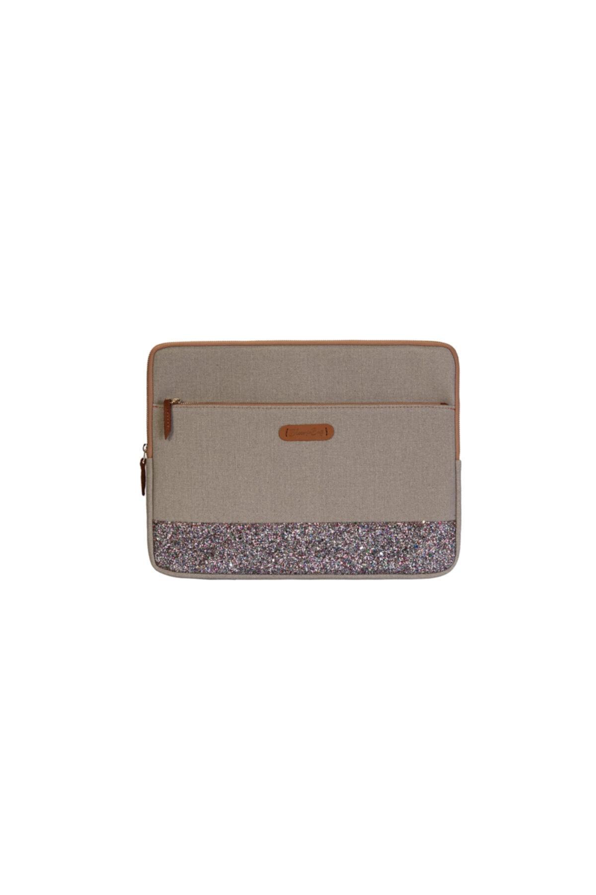 BloominBag Greenish Glitter 15 - 16 Inch Macbook - Laptop Kılıfı 1