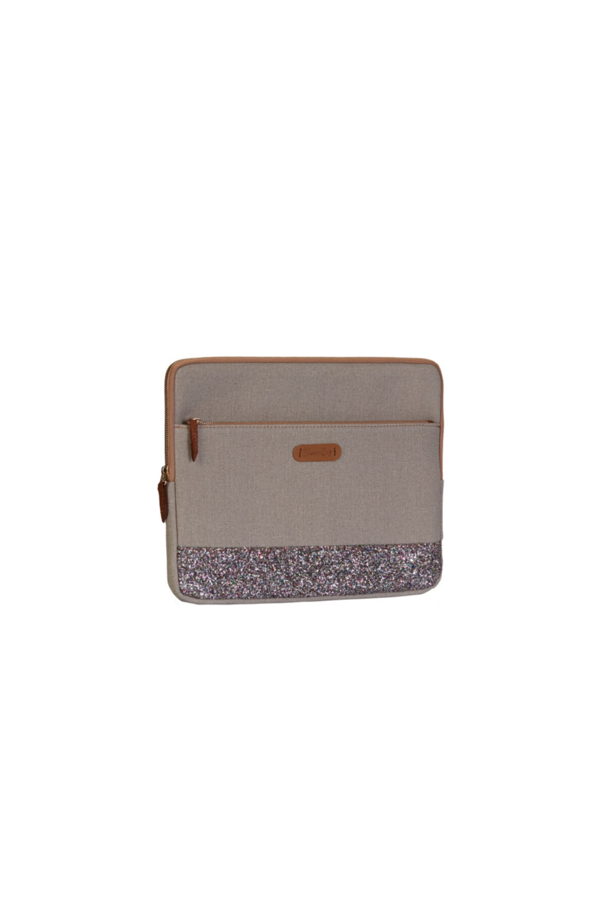 BloominBag Greenish Glitter 15 - 16 Inch Macbook - Laptop Kılıfı 2
