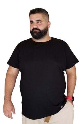 Xanimal Erkek Siyah Büyük Beden Pamuklu T-shirt