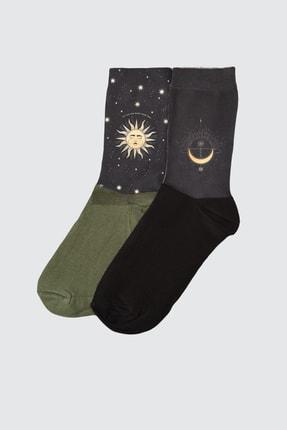 TRENDYOLMİLLA Siyah Örme Çorap TWOAW21CO0029