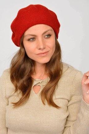 Mossta Kadın Kırmızı Keçe Yünlü Bere