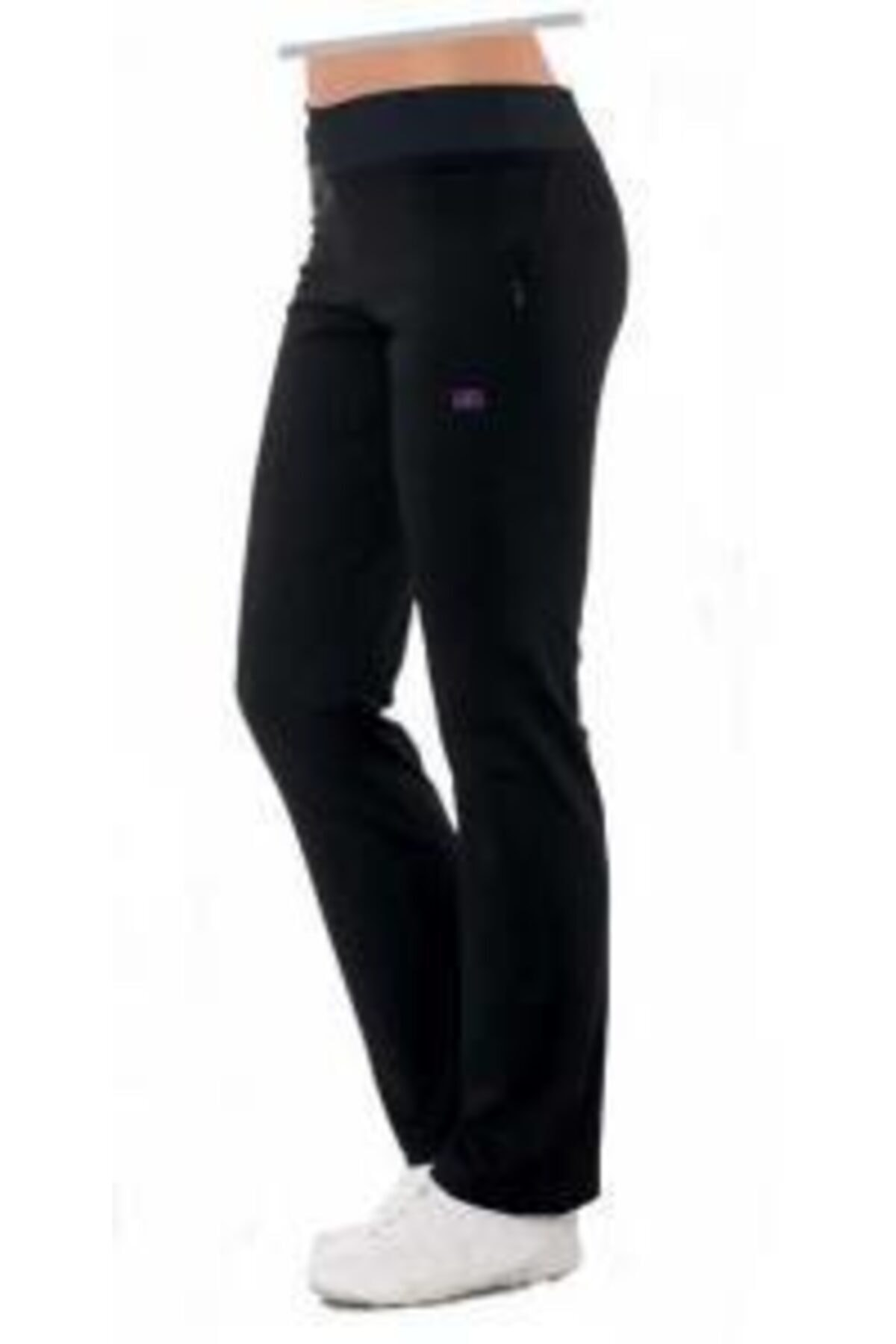 Crozwise Kadın Siyah Yüksek Bel Spor Pantolon 2150 1