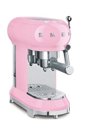 SMEG Retro 1950's Style Pembe Espresso Kahve Makinesi Ecf01pkeu