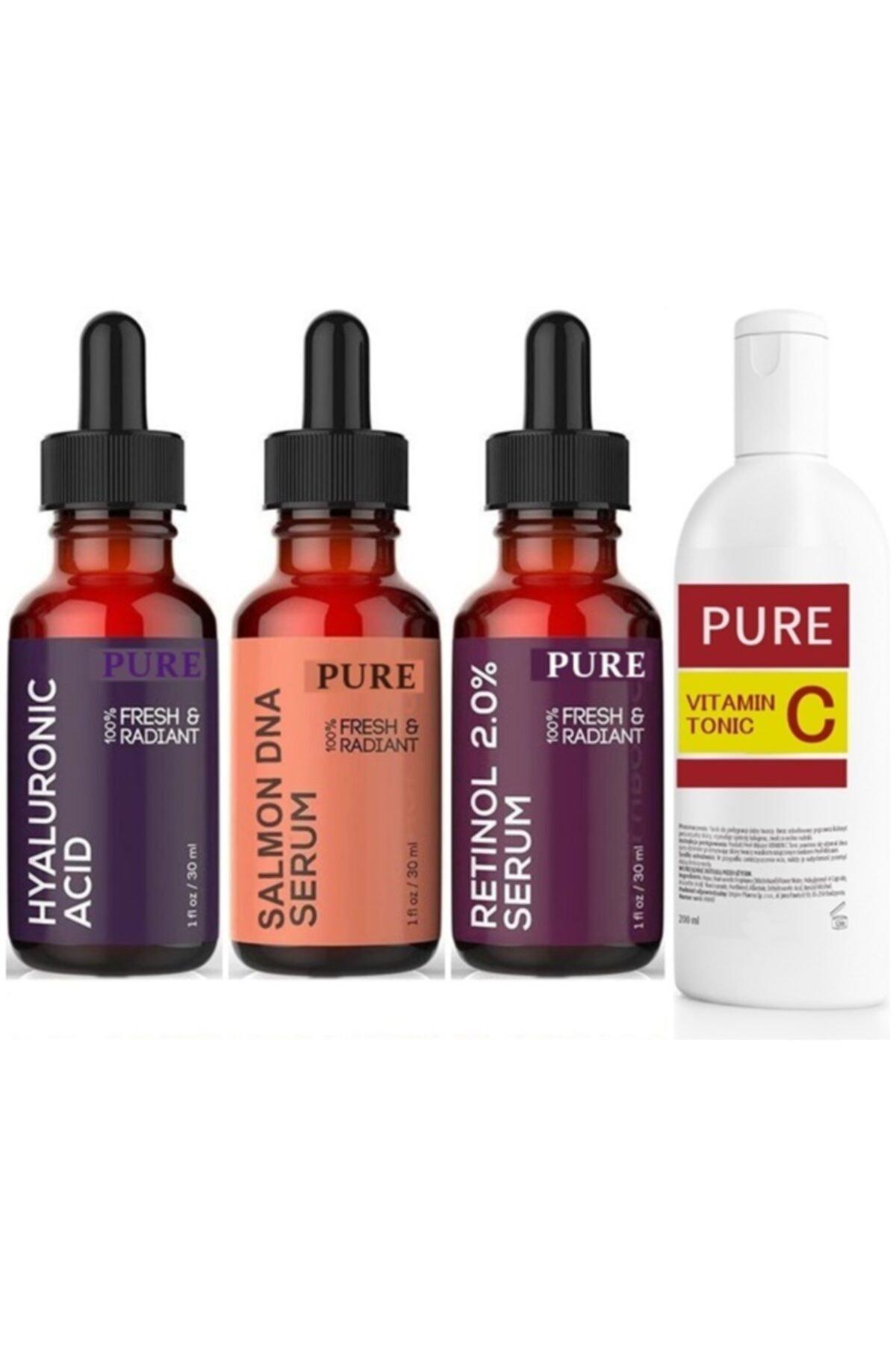 Pure Somon Dna Hyaluronic Acid Retinol Vitamin C Yüz Temizleme Toniği 1