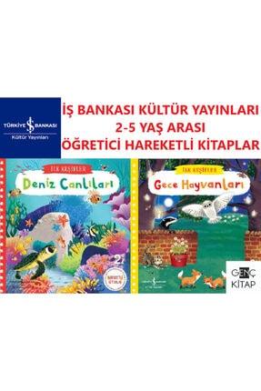İş Bankası Kültür Yayınları Iş Bankası 2-5 Yaş Arası Ilk Keşifler Öğretici Hareketli Kitaplar 2 Kitap Set