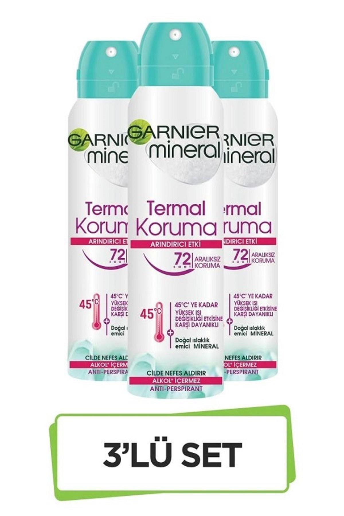 Garnier Mineral Termal Koruma Sprey Deodorant 3'lü Set 36005419288483