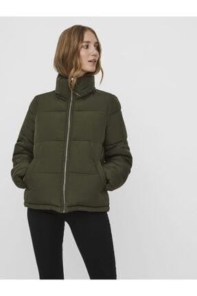 Vero Moda Kadın Yeşil Dik Yaka Şişme Mont 10238077 VMNEWYORK