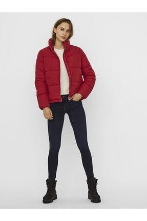 Vero Moda Kadın Kırmızı Dik Yaka Şişme Mont 10238077 VMNEWYORK