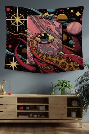Hediyeler Kapında 100x100 Galaksi Dekoratif Duvar Örtüsü