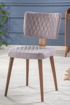Stoker Fellini Yemek Odası Sandalyesi - Salon Sandalyesi Gri
