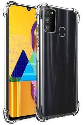 KZY İletişim Samsung Galaxy M21 Şeffaf Airbag Antishock Köşe Korumalı Silikon Kılıf