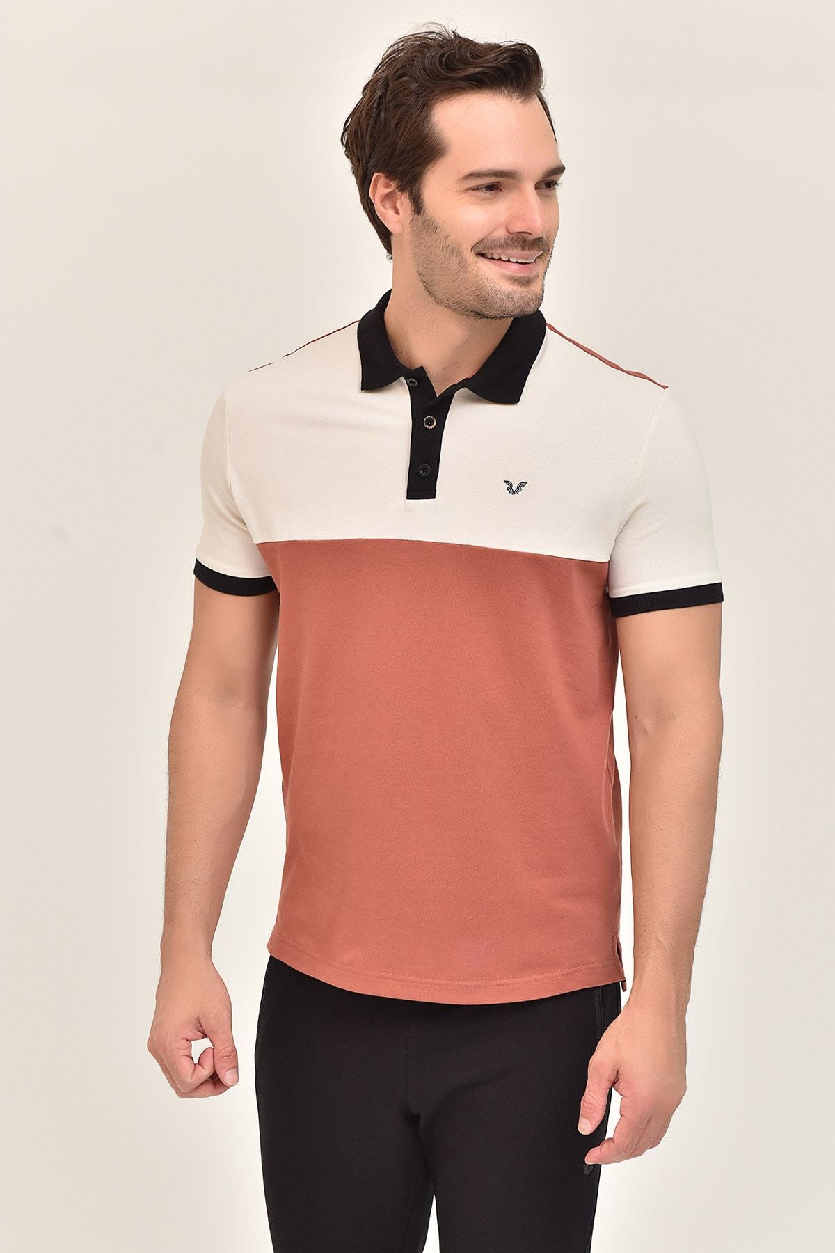 bilcee Kahverengi Erkek Büyük Beden T-Shirt GS-8981 1