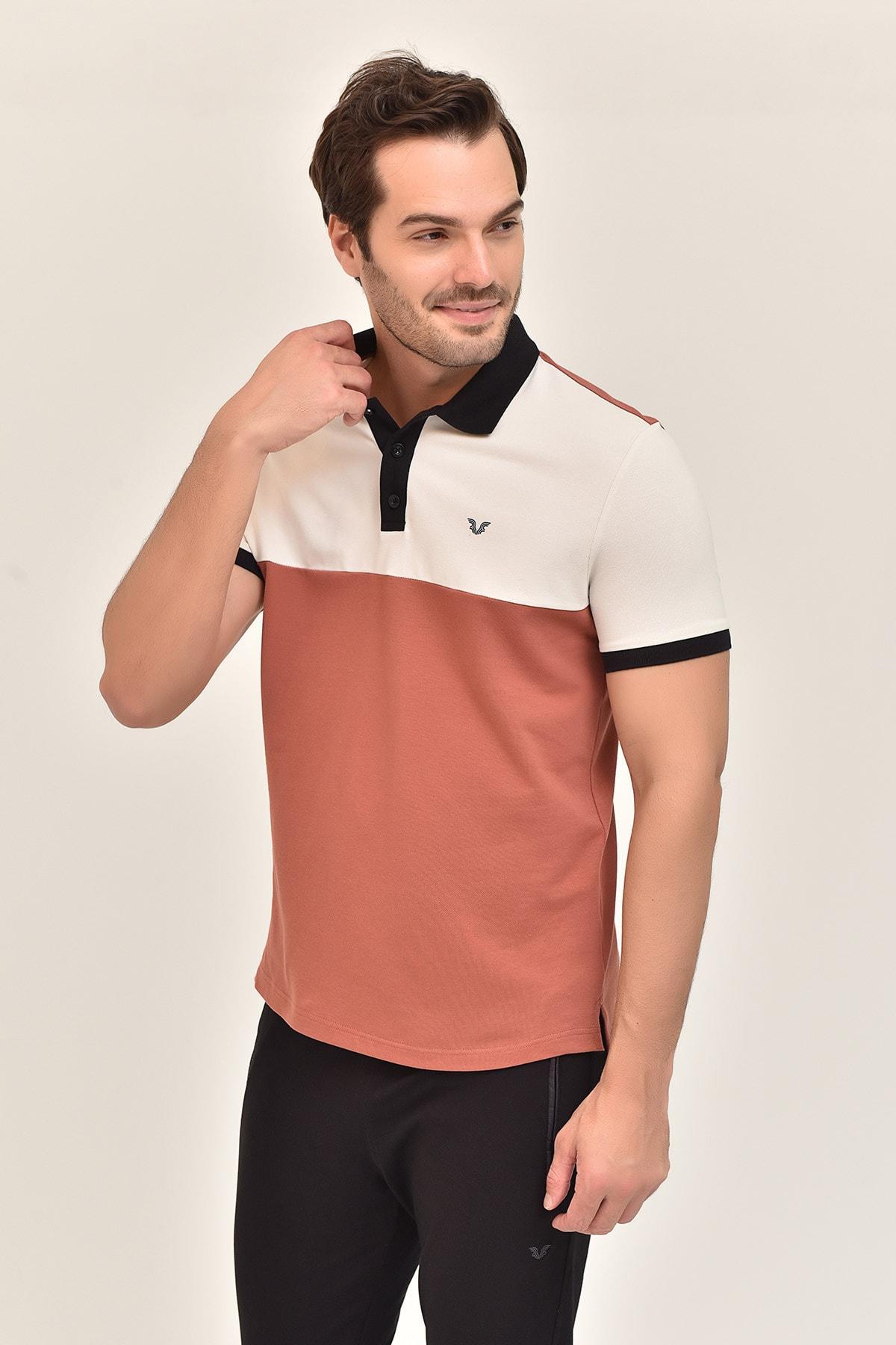 bilcee Kahverengi Erkek Büyük Beden T-Shirt GS-8981 2