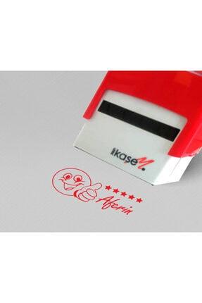 Melis Lazer Öğretmen Kaşesi Aferin 50*20 mm Kırmızı Mürekkep