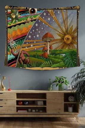 Hediyeler Kapında 100x100 Gizemli Mantar Bahçesi Duvar Örtüsü